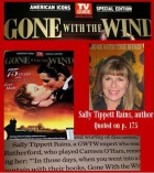"""Rains (picture inset on magazine cover) is quoted in the TV Guide special publication celebrating """"Gone With the Wind's"""" 75th Anniversary."""