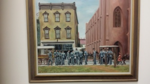 Painting done by Alicia Rhett, hangs in office of the president that The Citadel.
