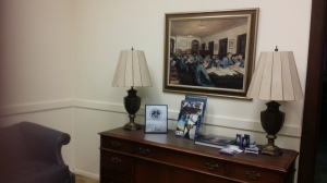 This painting by Alicia Rhett hangs in the presidents' office at The Citadel. (Rains photo)