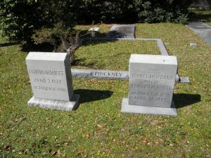 Alicia Rhett's parents' graves in St. Philip's Churchyard, where she is. Note the name Pinkney behind her, goes with Wesley Pruden's quote. (photo courtesy FindAGrave)