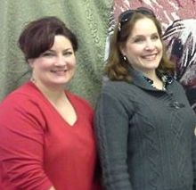 Nikki Luebke, (left) displayed her Scarlett O'Hara dresses and Anna Blair brought her collection.