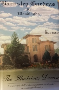 Cover of the book by Clent Coker shows the mansion as it once was. Now it is in ruins.